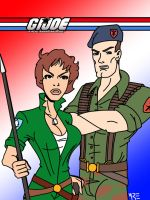 Flint and Lady Jaye by MCRE1201