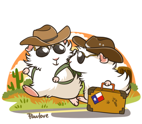 Texas Peegs by Pawlove-Arts