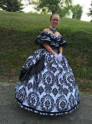 Civil War Ballgown - Stock 01 by Thy-Darkest-Hour