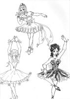 Ballet dancers by Leonora86