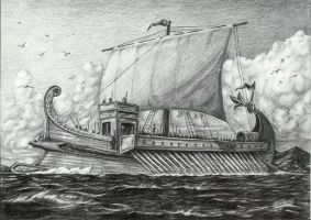Roman Galley Outline by joaoMachay