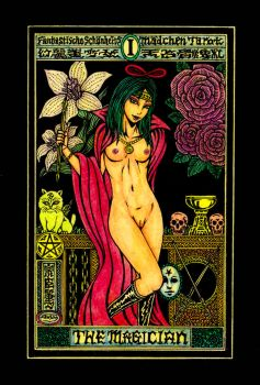 Aesthetic Beautiful Girls Tarot 1 The Magician by sawsin