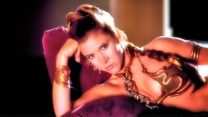 Carrie Fisher Leia Slave Girl IV by Dave-Daring