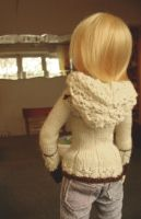 tiny hooded cardigan by glasschild