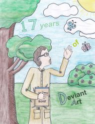 DeviantArt's 17th Birthday Scribble Challenge by outlire