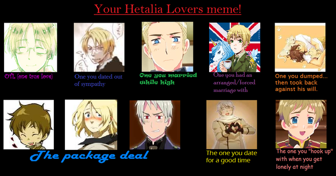 My Hetalia Lovers Meme by gir131