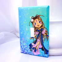 Belldandy Light Switch Cover by thedustyphoenix