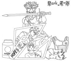 Trunks Tribute Outline by shinigamisgem
