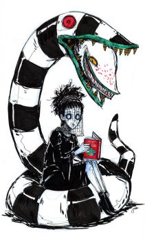 Lydia Deetz and Worm by Jumpix
