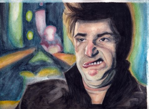 Andy Samberg Watercolor - Jizz In My Pants by michelle13579123