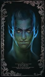 Fjord Portrait Card by Beastysakura