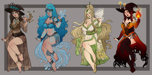 Elemental Witch adopts auction- CLOSED by Akira-Raikou