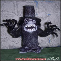 Babadook Chenille Stem Miniature by the-gil-monster