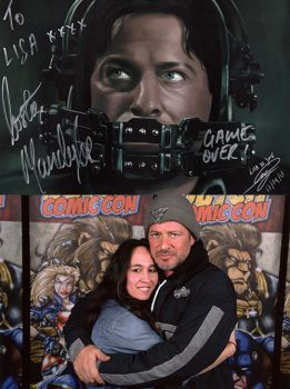 Costas Mandylor and I + signed drawing by LisaCooper91