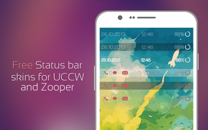 Free status bar skins for UCCW and Zooper widget by Rasvob