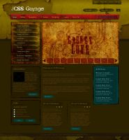 Joomla Template:: Grunge Style by princepal