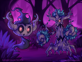POKEMON Phantump and Trevenant