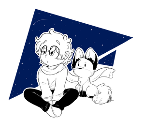 The Little Prince and Fox by Fallen-Star-Art