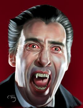 Christopher Lee Dracula by pagandevil