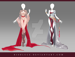 (CLOSED) Adoptable Outfit Auction 138-139 by JawitReen