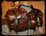 leather armor woman by Lagueuse