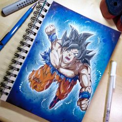 Ultra Instinct Copic Illustration + speedpaint by Artistlizard101