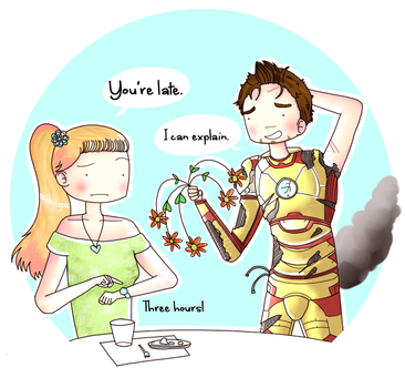 Tony and Pepper: Date by ice-cream-skies