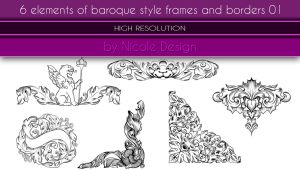 6 Elements Of Baroque Style Frames And Borders 01 by noema-13