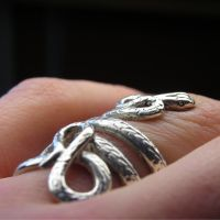 Sterling silver snake ring by Vansee-Jewelry