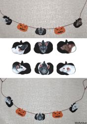 Halloween Rat Garlands by wolfysilver