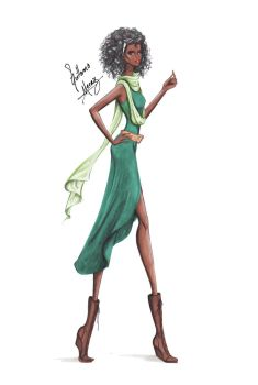 Tiana, from Disney Chickz by frozen-winter-prince