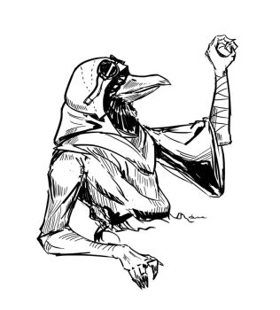 Ji The Kenku by putridCheese