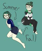 Summer and Fall Taki by Taki-chanEDM