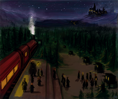 first arriving in Hogwarts by radacs