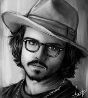Estudo de Sombra e Luz 3 - Johnny Depp by LouizBrito