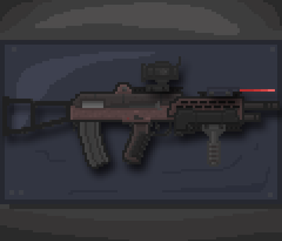 Crimson Predator Rifle by LonelyGrayWolfie