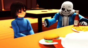 At Grillby's by Dollynn