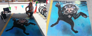 Foothill Sidewalk Days - Chalk Art by sugarpoultry
