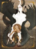Eowyn and the Nazgul by bluefooted