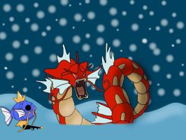 Shiny Gyarados and Custom Shiny Mega Magikarp by jomy10