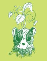 green panda by broderwick
