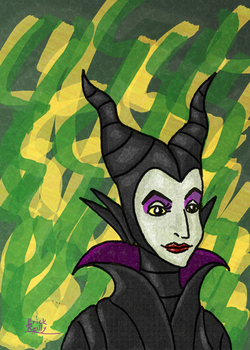 Maleficent from Disney's Sleeping Beauty by Erikku8