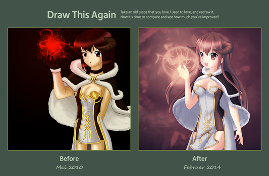 Draw this Again, Redraw of my High Wizard (RO) by Mietzy