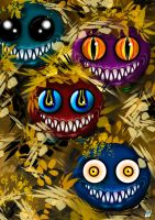 Bolors (monsters) by BrainBlueArts