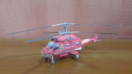 Twin-rotor Fire Helicopter Papercraft by Mironius