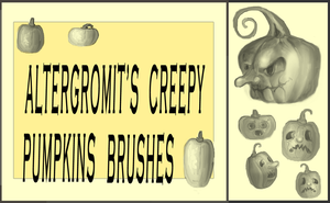 Creepy Pumpkins Brushes by altergromit