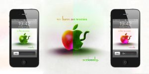 We have no worms - iPhone 4 by KazR