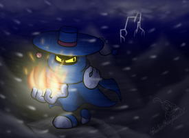 Searching in the dark mountains (redrawn again) by SailorRaybloomDZ