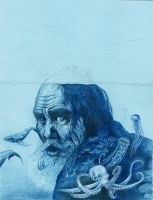 The Old Man and the Sea WIP by bookstoresue
