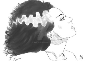 Elsa Lanchester - The Bride Sketch by NVC19